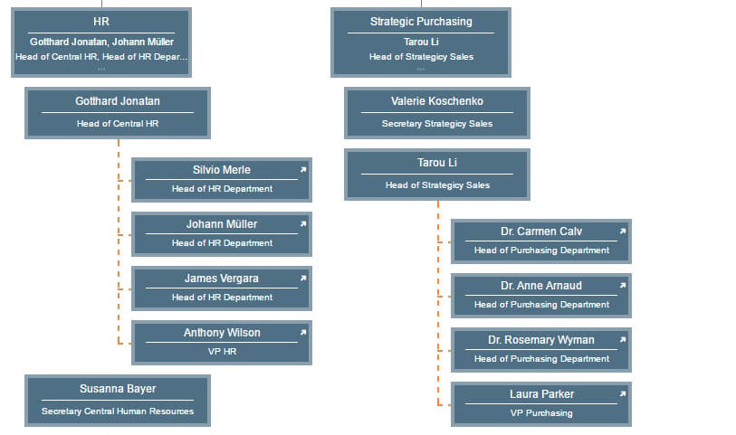 Visualizing organizational relationships in your org chart