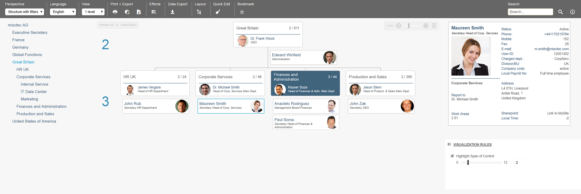 Ingentis org.manager on-premises org chart