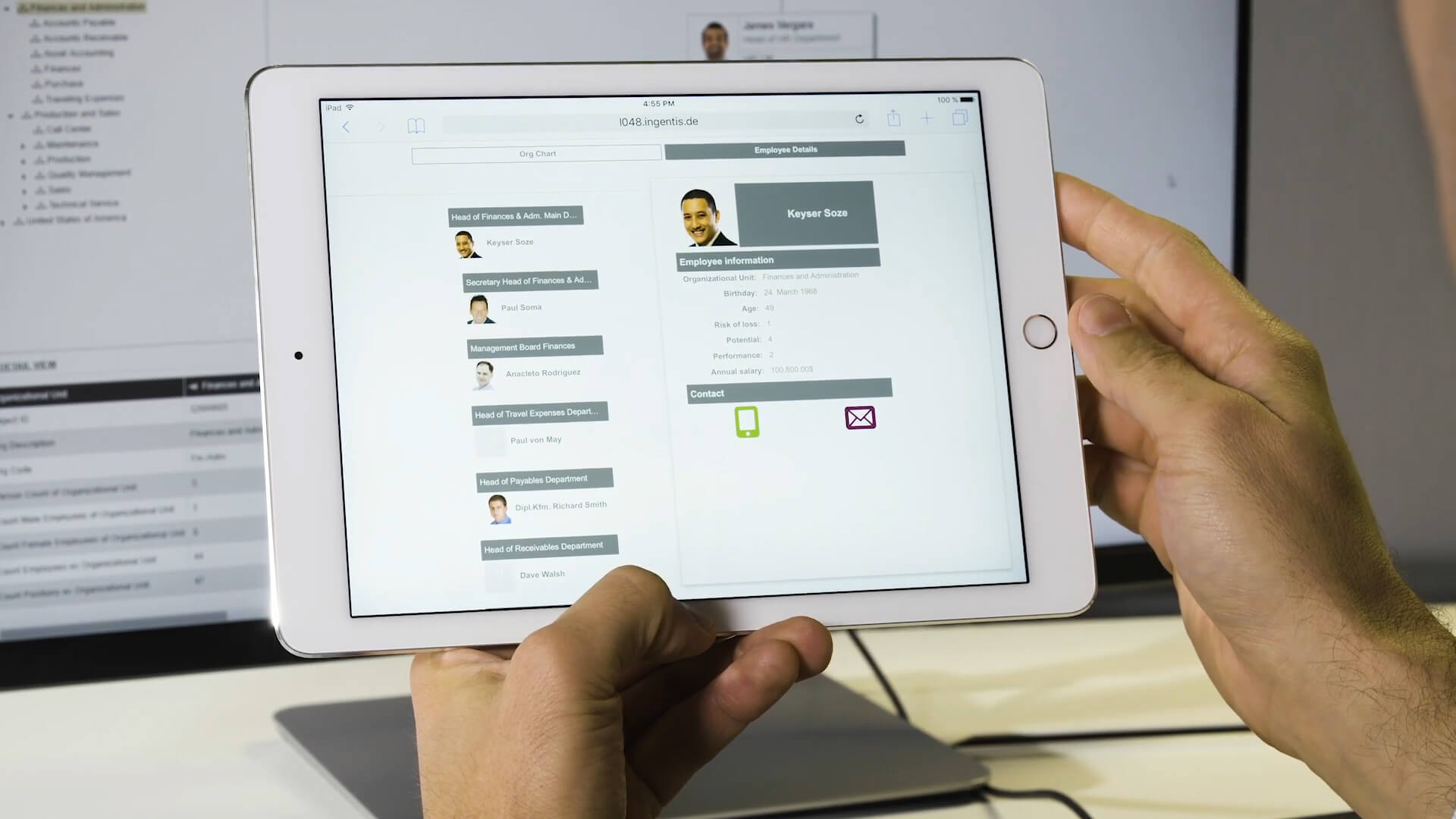 Flexible display options with Ingentis org.manager