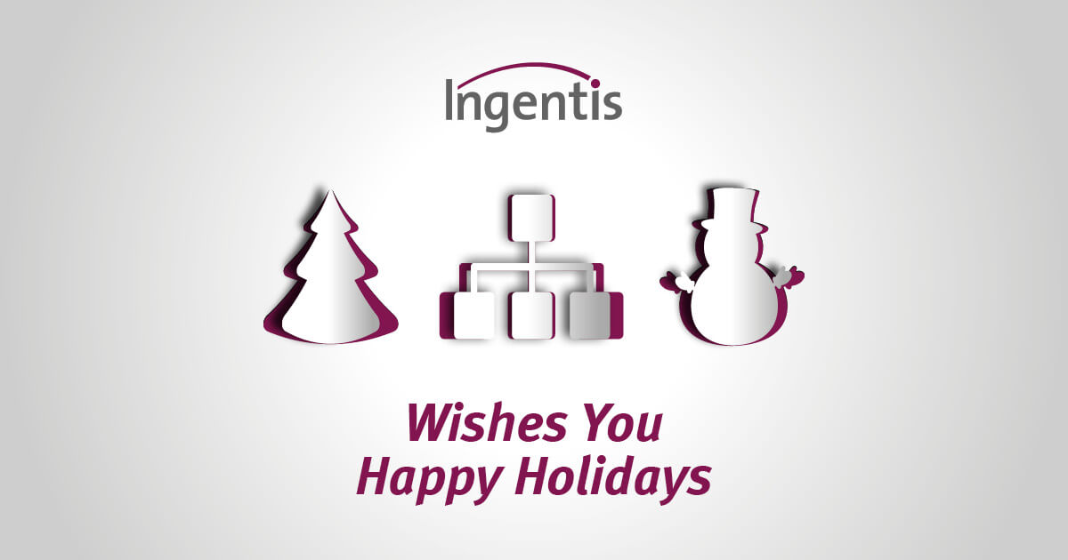 Ingentis Christmas greetings 2018