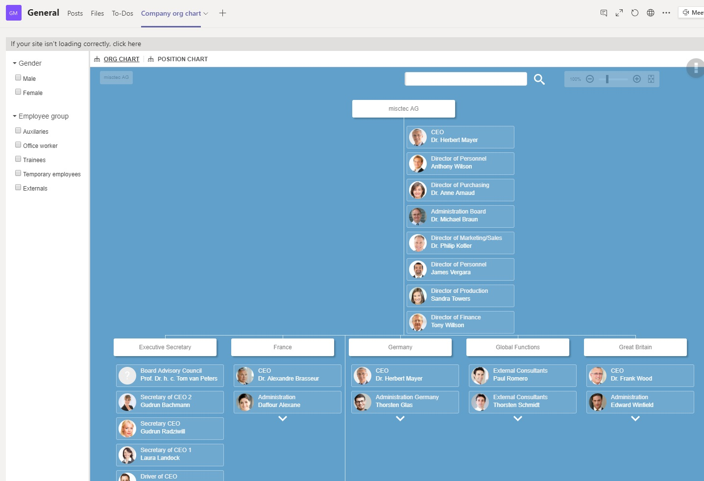 The Ingentis org.manager org chart is now part of your Microsoft Teams channel
