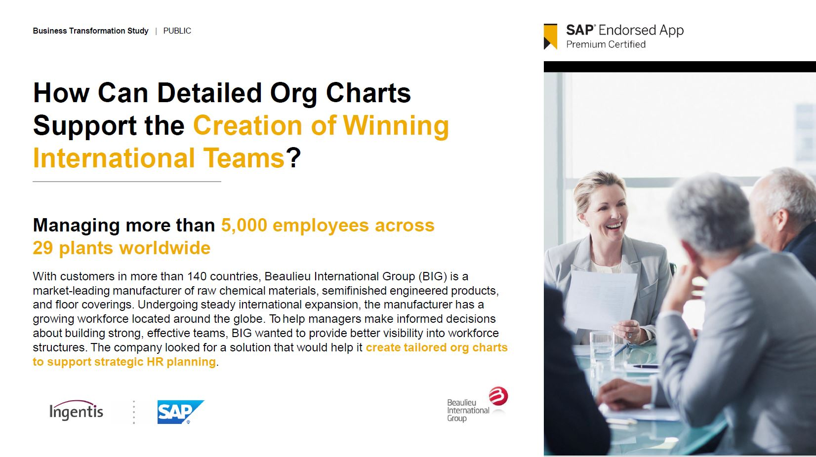 How Can Detailed Org Charts Support the Creation of Winning International Teams - Ingentis org.manager [web] for SF at Beaulieu International Group